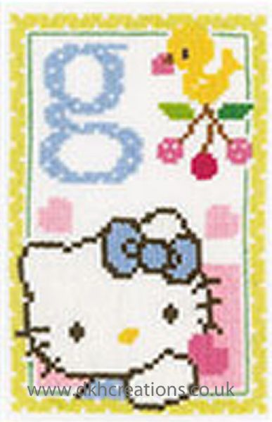 Hello Kitty Alphabet Letter G Cross Stitch Kit